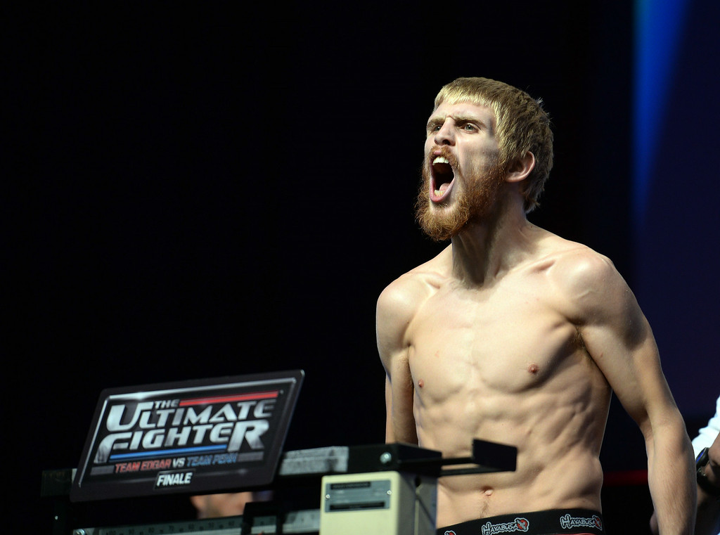 . Justin Scoggins during weigh-ins for the TUF 19 Finale: Team Edgar vs Team Penn. (Photo by Hans Gutknecht/Los Angeles Daily News)