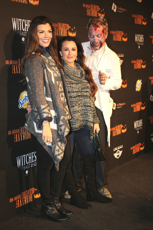 . Ali Landry and Kyle Richards at the 5th Annual Los Angeles Haunted Hayride Premiere Night on October 10, 2013.  The fifth year anniversary of the Los Angeles Haunted Hayride took Hayriders through scenes of actual hauntings.  The month-long event will once again take place in Griffith Park�s Old Zoo area, which has been home to murder, torture, paranormal activity, serial killers, and abduction. (Photos by Boris Issaei for the Los Angeles Daily News)