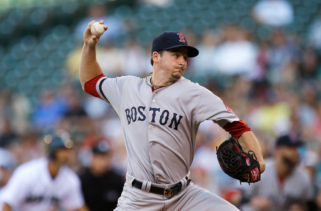. <b>ALLEN WEBSTER </b> <br />The 23-year-old right-hander was another coveted piece acquired from the Dodgers. Has been called up twice by Boston and is currently pitching at Triple-A Pawtucket. For the Red Sox, Webster made six starts and went 1-2 with a 9.57 ERA. At Pawtucket, he is 8-4 with a 3.90 ERA and 107 strikeouts in 92.1 innings.   (AP Photo/Ted S. Warren)