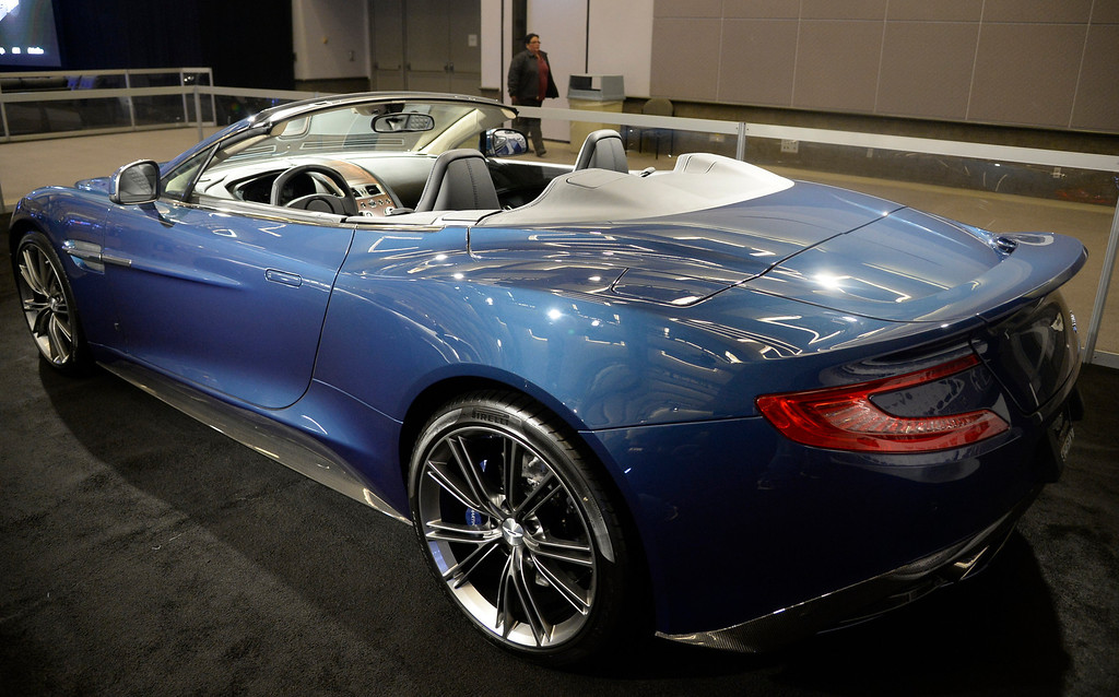 . Nov 22,2013 Los Angeles CA.  The Galpin Ford Aston Martin Vanquish on displays during the 2nd media day at the Los Angeles Auto Show.  The show opens today Friday and runs through Dec 1st. Photo by Gene Blevins/LA Daily News