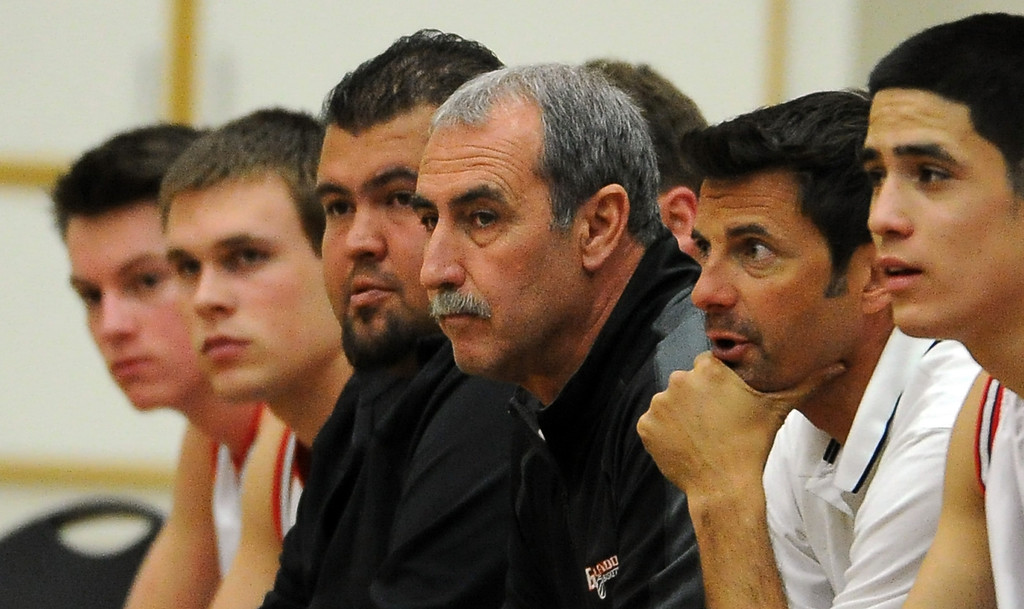 . Glendora head coach Michael LeDuc in the first half of a prep basketball game against California during the SoCal Shootout in the Felix Event Center on the west campus of Azusa Pacific University in Azusa, Calif., on Saturday, Jan. 18, 2014. (Keith Birmingham Pasadena Star-News)