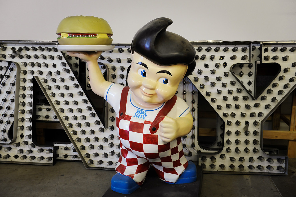. A Bob\'s Big Boy from the Canoga Park restaurant at Valley Relics Museum in Chatsworth. (Photo by Michael Owen Baker/L.A. Daily News)