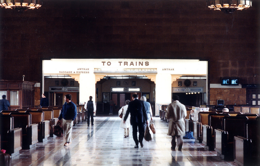 . Union Station on February 7, 1990.    (Los Angeles Daily News file photo)