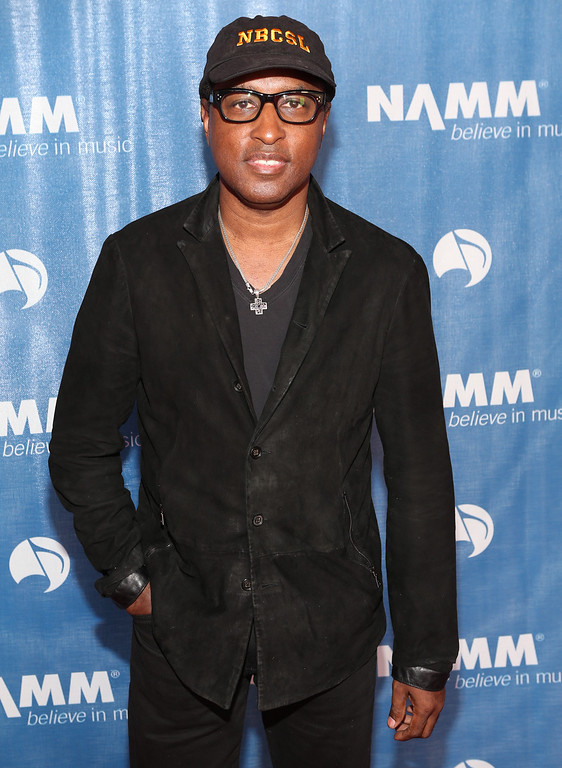 """. ANAHEIM, CA - JANUARY 23:  Kenny \""""Babyface\"""" Edmonds attends the 2014 National Association of Music Merchants show media preview day at the Anaheim Convention Center on January 23, 2014 in Anaheim, California.  (Photo by Jesse Grant/Getty Images for NAMM)"""