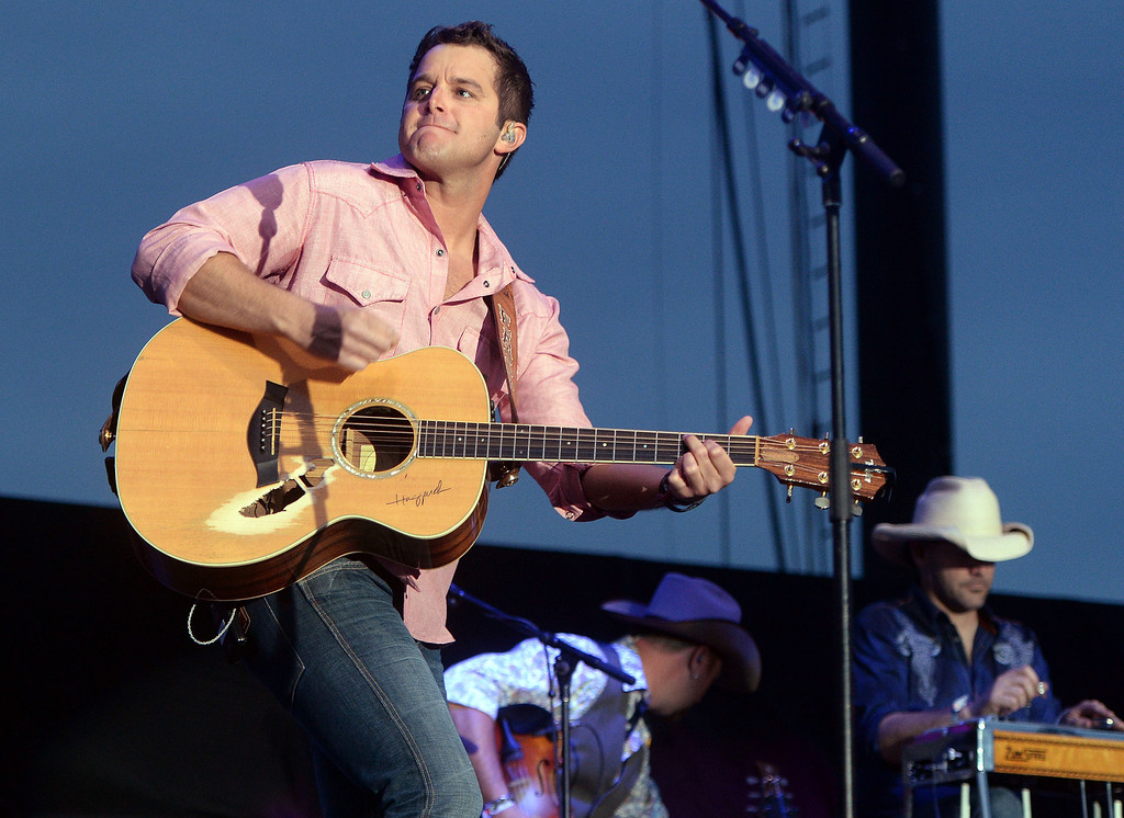 . Easton Corbin performs on the Mane Stage Friday April 25, 2014 at Stagecoach 2014 at the Empire Polo Club in Indio. (Will Lester/Inland Valley Daily Bulletin)