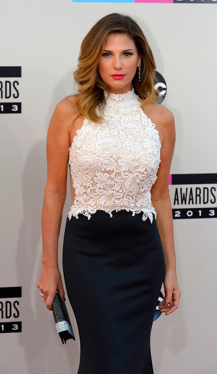 . Daisy Fuentes arrives to the American Music Awards  at the Nokia Theatre in Los Angeles, California on Sunday November 24, 2013 (Photo by Andy Holzman / Los Angeles Daily News)