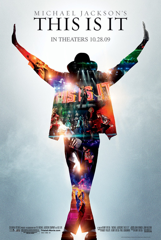 """. In this film publicity image released by Sony Pictures, the movie poster for Michael Jackson\'s \""""This is It,\"""" film, is shown. (AP Photo/Sony Pictures)"""