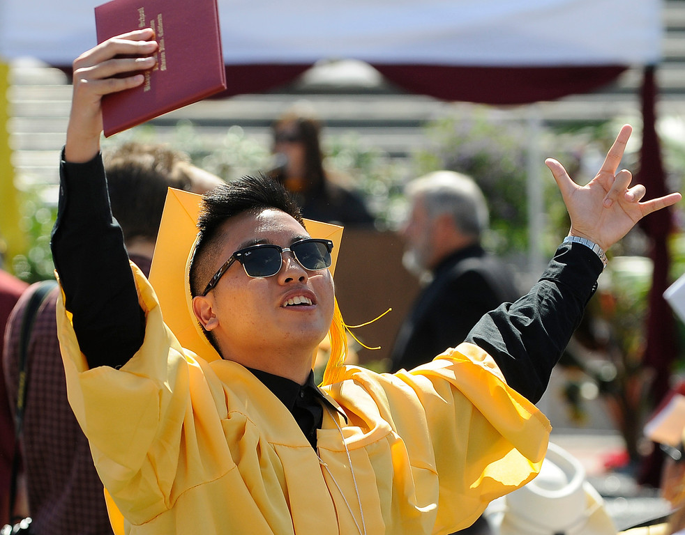 . The Commencement Exercises for the Bishop Alemany High School Class of 2013 was held at College of the Canyons in Santa Clarita, CA 6/1/2013(John McCoy/LA Daily News)