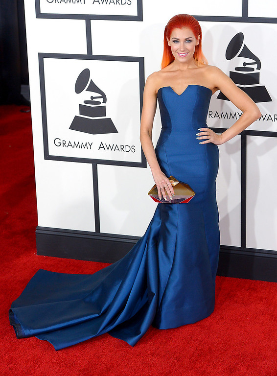 . Bonnie McKee arrives at the 56th Annual GRAMMY Awards at Staples Center in Los Angeles, California on Sunday January 26, 2014 (Photo by David Crane / Los Angeles Daily News)