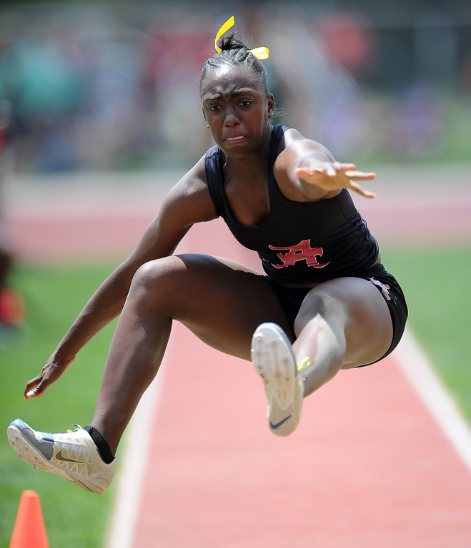 . during the CIF-SS track & Field championship finals in Hilmer Stadium on the campus of Mt. San Antonio College on Saturday, May 18, 2013 in Walnut, Calif.  (Keith Birmingham Pasadena Star-News)