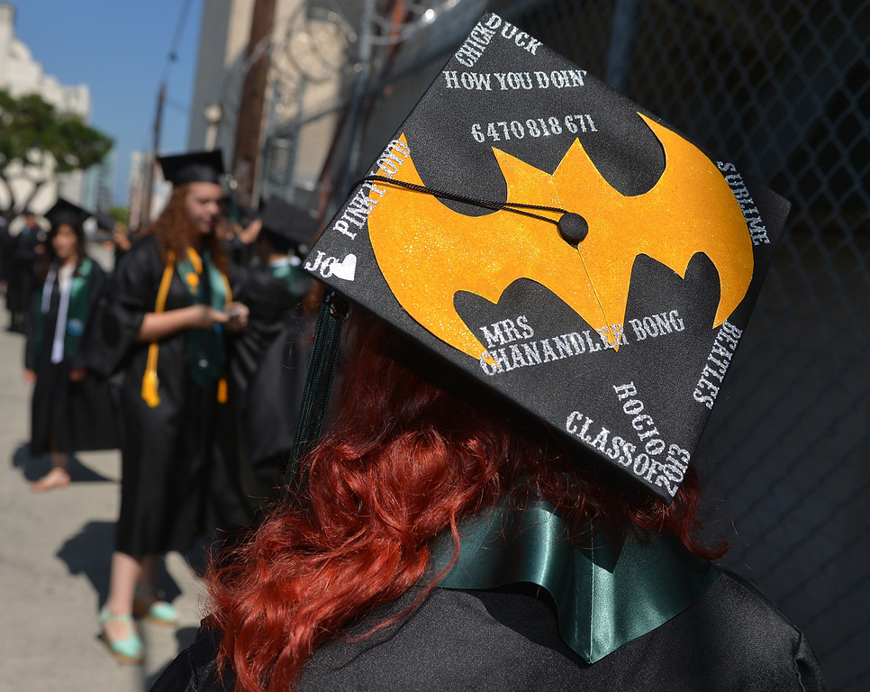 . San Pedro, CA - Port of Los Angeles HS Graduation at Warner Grand Theatre.   (Robert Casillas/Daily Bulletin)