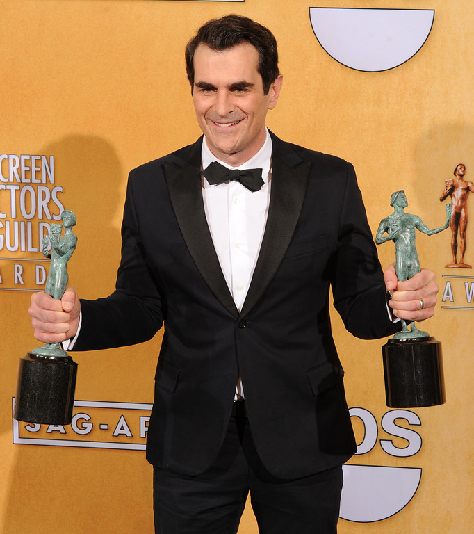 . Ty Burrell from Modern Family backstage at the 20th Annual Screen Actors Guild Awards  at the Shrine Auditorium in Los Angeles, California on Saturday January 18, 2014 (Photo by John McCoy / Los Angeles Daily News)