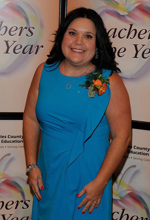 . Lorie Felippa from Arcadia USD. Sixteen teachers from throughout the Los Angeles County were named as Teachers of the Year during a ceremony at the Universal Hilton. Teachers received a cash award from the California Credit Union as well as software and hardware to use in their classrooms from eInstruction. Universal City, CA. 9/27/2013. photo by (John McCoy/Los Angeles Daily News)