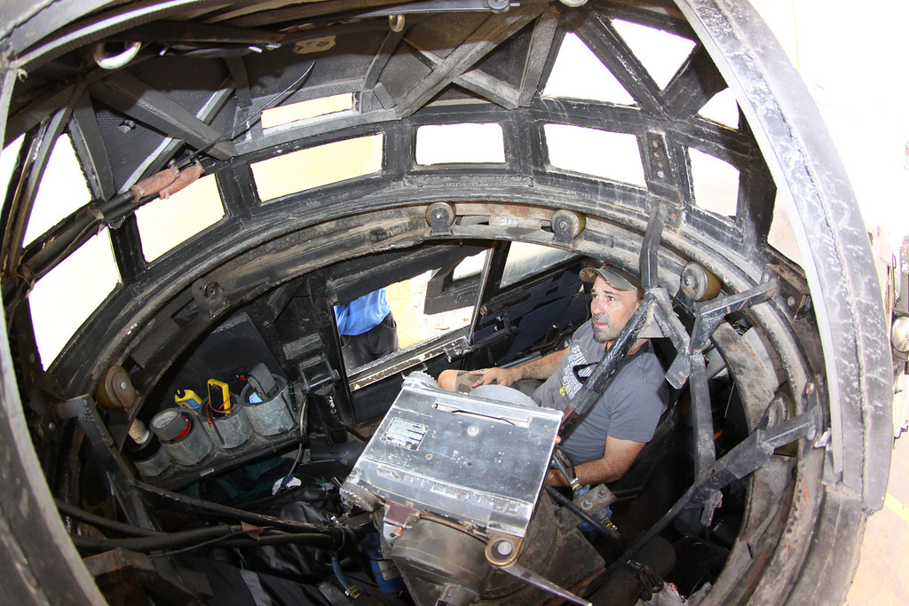 . Local SoCal resident  Sean Casey - IMAX film-maker/Storm Chaser with TIV-2 (Tornado Intercept Vehicle) as he gets ready to start on another tornado IMAX film with the National Geographic in El Reno Oklahoma Friday. April  26,2014. Photo by Gene Blevins/LA DailyNews