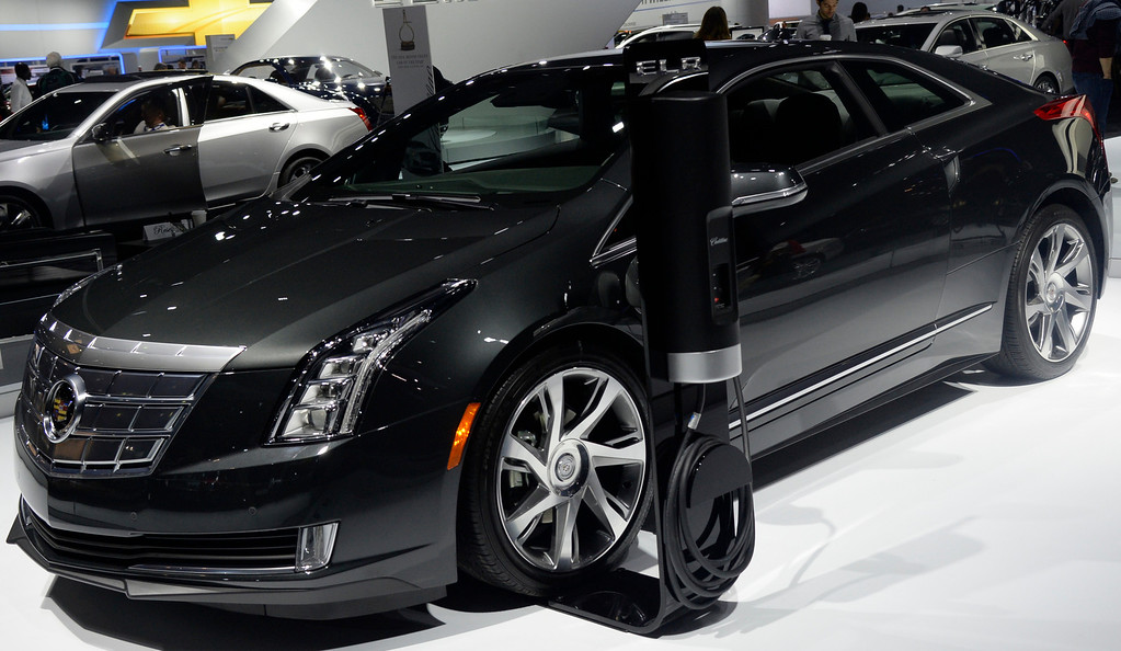 . Nov 22,2013 Los Angeles CA. The new 2014 Cadillac ELR on displays during the 2nd media day at the Los Angeles Auto Show. Photo by Gene Blevins/LA Daily News