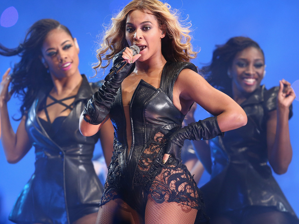 . Beyonce performs during the Pepsi Super Bowl XLVII Halftime Show at Mercedes-Benz Superdome on February 3, 2013 in New Orleans, Louisiana.  (Photo by Christopher Polk/Getty Images)