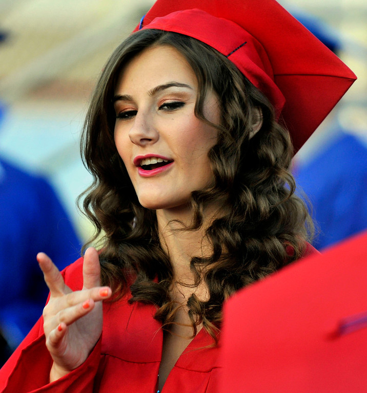 . Graduate Samantha Kirklin (cq), 17.  Los Altos High School\'s 53 Commencement Ceremonies held in the Patrick Mauch Memorial Stadium, Tuesday, May 21, 2013.  (Correspondent photo/Mike Mullen)