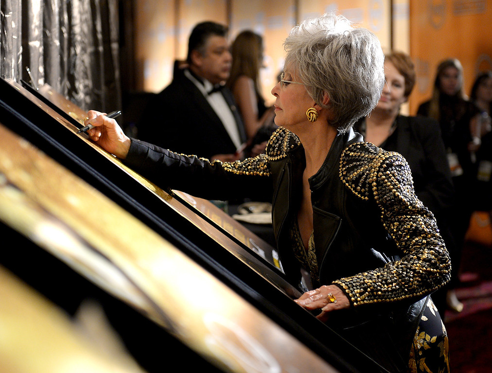 . Rita Moreno backstage at the 20th Annual Screen Actors Guild Awards  at the Shrine Auditorium in Los Angeles, California on Saturday January 18, 2014 (Photo by Michael Owen Baker / Los Angeles Daily News)