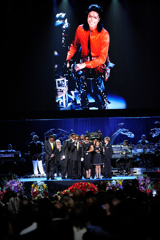 . In this July 7, 2009 file photo, Marlon Jackson speaks on stage with the Jackson family during the memorial service for Michael Jackson at the Staples Center in Los Angeles.  (AP Photo/Mark J. Terrill, Pool, file)