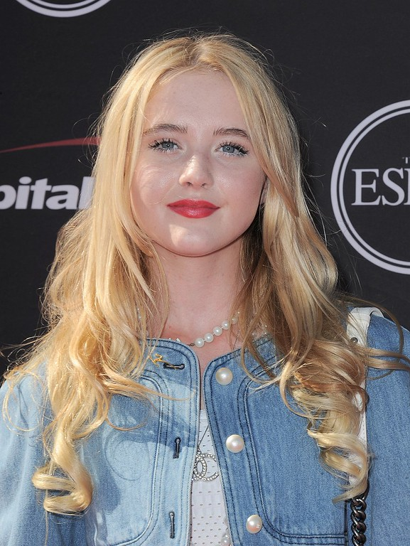 . Actress Kathryn Newton arrives at the ESPY Awards on Wednesday, July 17, 2013, at Nokia Theater in Los Angeles. (Photo by Jordan Strauss/Invision/AP)
