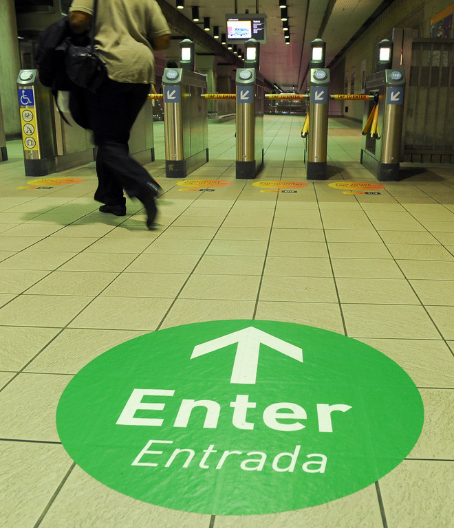 . Entrance sign at the Union Station metro subway, Tuesday, June 18, 2013.(Michael Owen Baker/Staff Photographer)