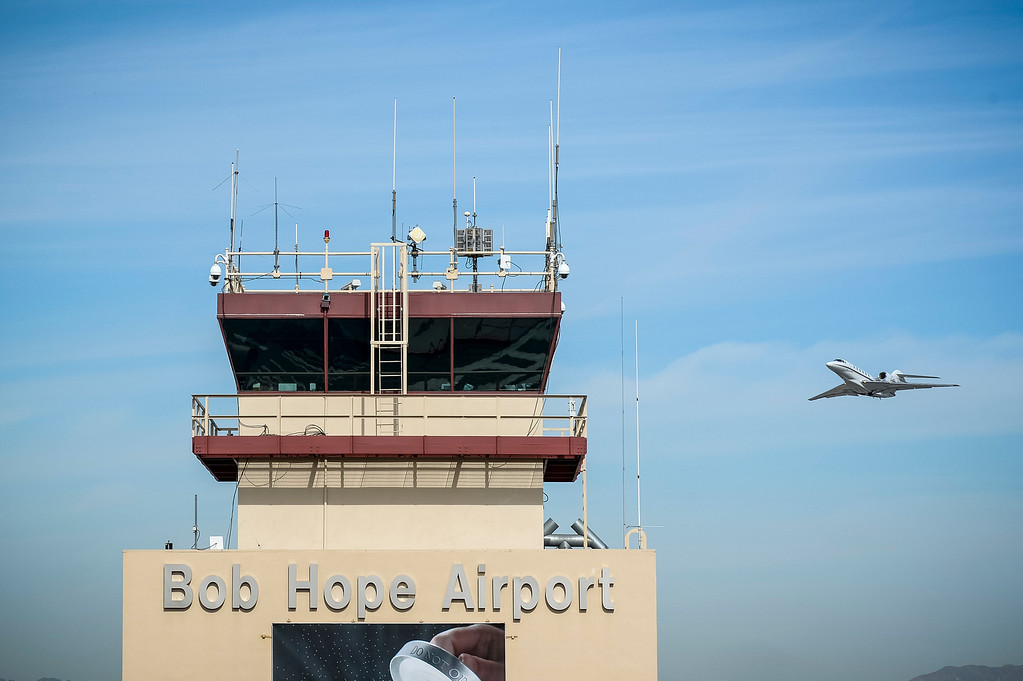 . A jet takes off at the Bob Hope airport in Burbank, CA Tuesday, March 11, 2014.  The area north of this runway is being considered as a site for a possible expansion of the airport.  (Photo by David Crane/Los Angeles Daily News)