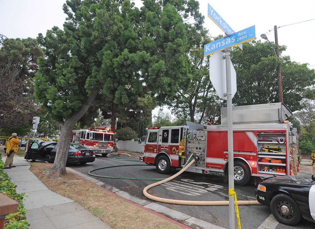 . Shooting at Santa Monica City College Friday.  Firefighters extinguished a house fire at Kansas Ave. and Yorkshire in Santa Monica. It was believed this was the start location of the shooting spree.
