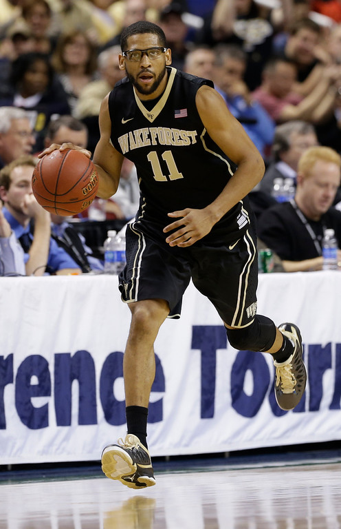 . <b>C.J. Harris</b> <br />Guard, 6-3, 190. Averaged 15.4 points as a senior last year at Wake Forest. Shot 45.2 percent and hit 59 3-pointers at a 43.1 percent clip. A three-year captain for the Demon Deacons. Size is a concern if he were to play shooting guard. (AP Photo/Gerry Broome)