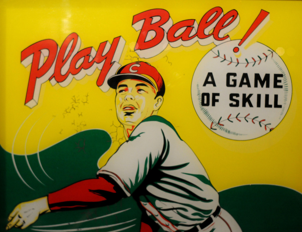 """. A detail of an arcade game is included in the \""""Baseball!\"""" exhibit. The Exhibition opens April 4, 2014 at the Ronald Reagan Presidential Library and Museum.  Running through September 4, 2014, Baseball is a 12,000 square foot exhibition featuring over 700 artifacts, including some of the rarest, historic and iconic baseball memorabilia.  (Photo by Dean Musgrove/Staff Photographer)"""