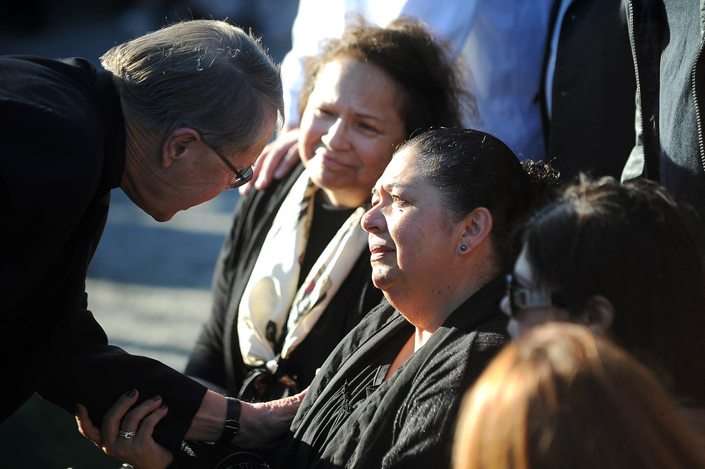 . Friends and family gather for a vigil at Santa Monica College Monday, June 10, 2013.(Andy Holzman/Los Angeles Daily News)
