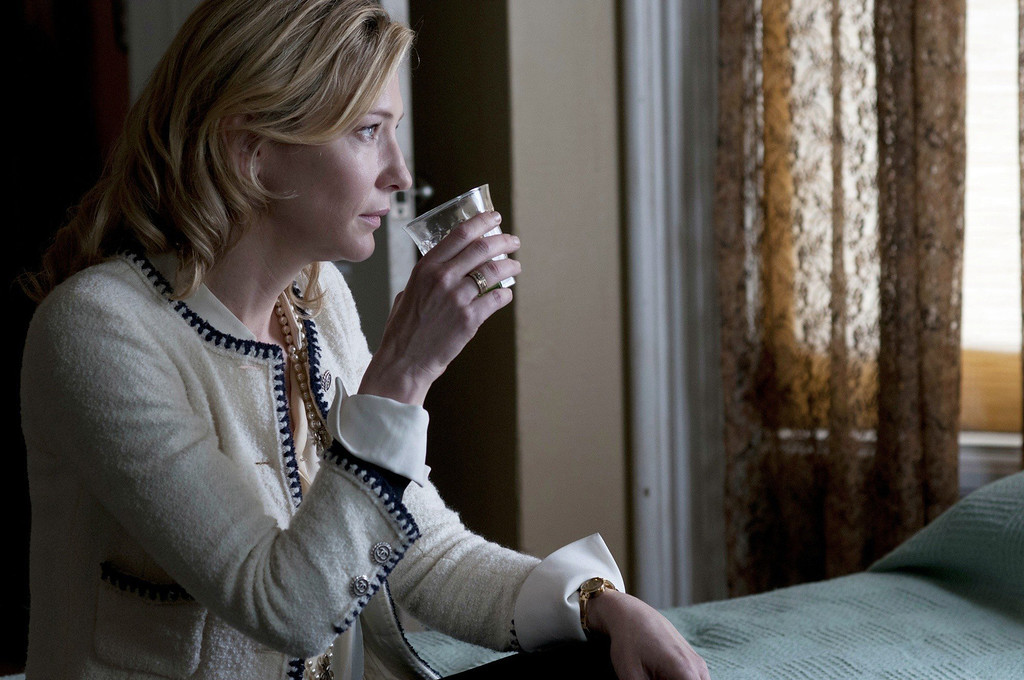 """. Cate Blanchett tries to put her life back together after her crooked financial manager husband is jailed in Woody Allen\'s latest flick titled \""""Blue Jasmine,\"""" out July 26."""