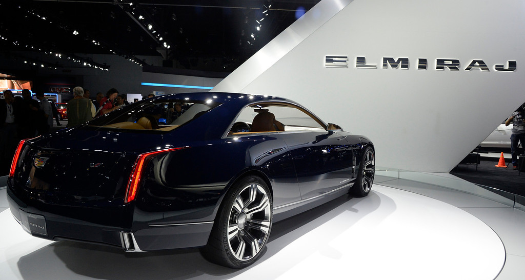 . Nov 20,2013 Los Angeles CA. USA. The new cadillac Elmiraj on display during the 2013 Los Angeles Auto Show. Photo by Gene Blevins/LA Daily News