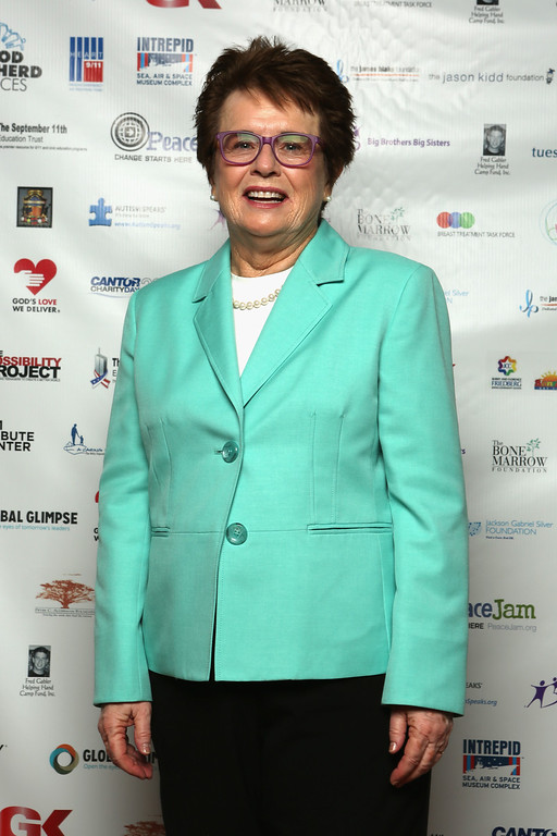 . NEW YORK, NY - SEPTEMBER 11:  Billy Jean King attends the Annual Charity Day Hosted By Cantor Fitzgerald And BGC at the Cantor Fitzgerald Office on September 11, 2013 in New York, United States.  (Photo by Mike McGregor/Getty Images for Cantor Fitzgerald)