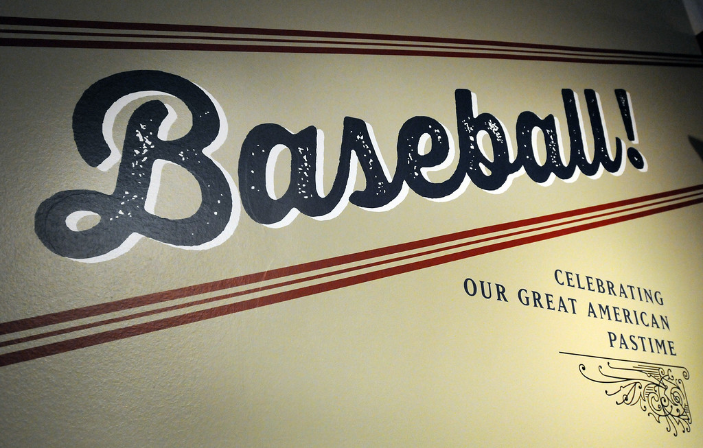 . Baseball! The Exhibition opens April 4, 2014 at the Ronald Reagan Presidential Library and Museum.  Running through September 4, 2014, Baseball is a 12,000 square foot exhibition featuring over 700 artifacts, including some of the rarest, historic and iconic baseball memorabilia.  (Photo by Dean Musgrove/Staff Photographer)