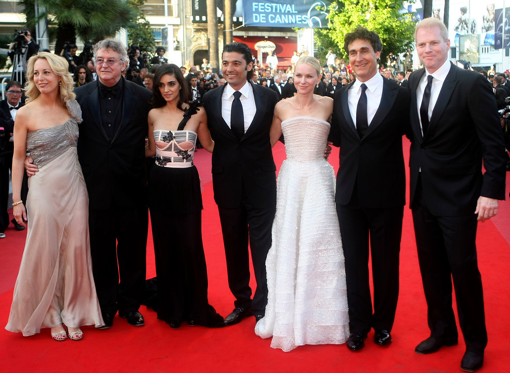 ". From left, former CIA Agent Valerie Plame, her husband Joseph Wilson, actress Liraz Charmi, actor Khaled Nabawy, actress Naomi Watts, director Doug Liman and actor Noah Emmerich arrive for the screening of ""Fair Game\"", at the 63rd international film festival, in Cannes, southern France, Thursday, May 20, 2010. (AP Photo/Lionel Cironneau)"