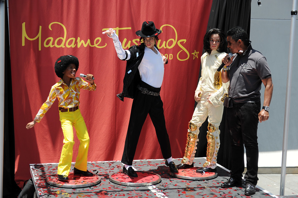 . Jermaine Jackson unveils  three Michael Jackson wax figures from various periods in his career at Madame Tussauds Hollywood June 20, 2011.  (Hans Gutknecht/Los Angeles Daily News)