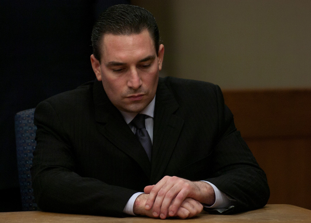 . Former Westminster police Detective Anthony Orban in court, who was found guilty of kidnapping, rape, sexual penetration with a foreign object, oral copulation and criminal threats.  (Staff photo/Inland Valley Daily Bulletin)