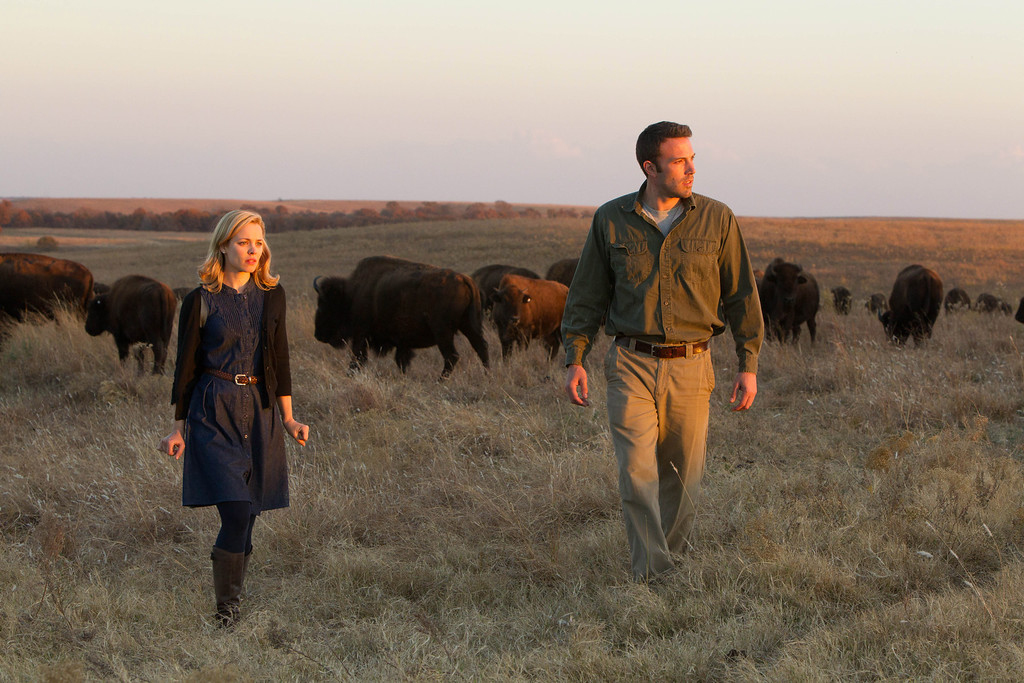 """. This undated photo provided by Magnolia Pictures shows Ben Affleck and Rachel McAdams in a scene from, \""""To the Wonder.\"""" (AP Photo/Magnolia Pictures, Mary Cybulski)"""