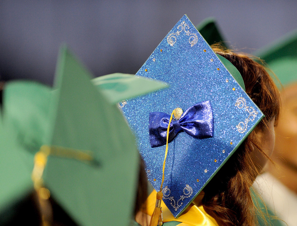 . The Long Beach Poly High School 2013 graduation at Veterans Stadium in Long Beach Wednesday June 12. ( Photo by Sean Hiller/Press Telegram)