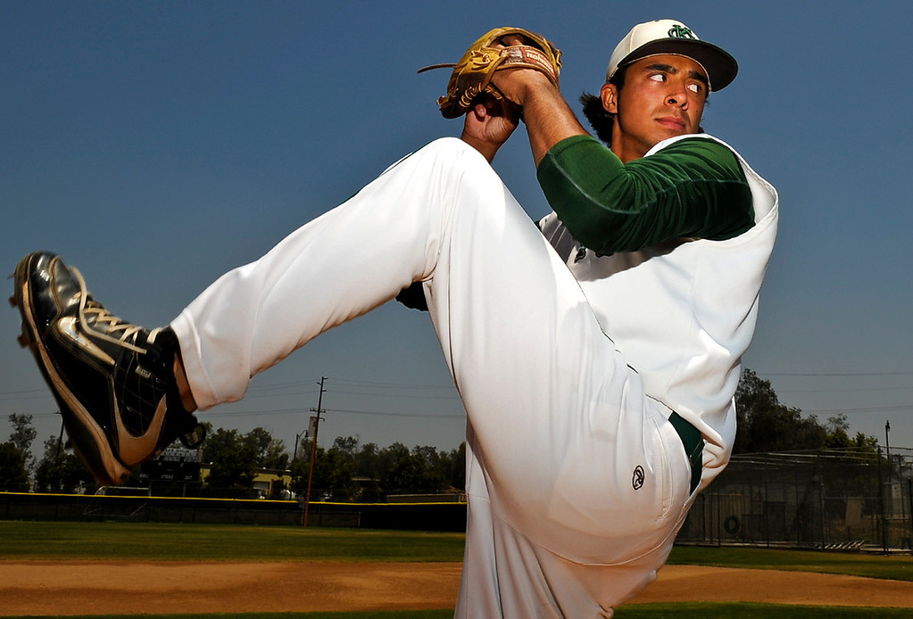 . Chris Mathewson has been named Player of the Year to the Inland Valley Daily Bulletin\'s All Area baseball team. Mathewson pitches for Kaiser High School. Rachel Luna staff photographer Inland Valley Daily Bulletin