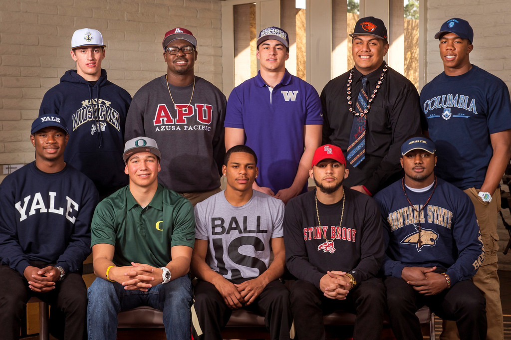 . San Gabriel Valley Tribune area football players have signed National Letters of Intent on National Signing Day Feb. 5, 2014.  (Staff photo by Leo Jarzomb/San Gabriel Valley Tribune)