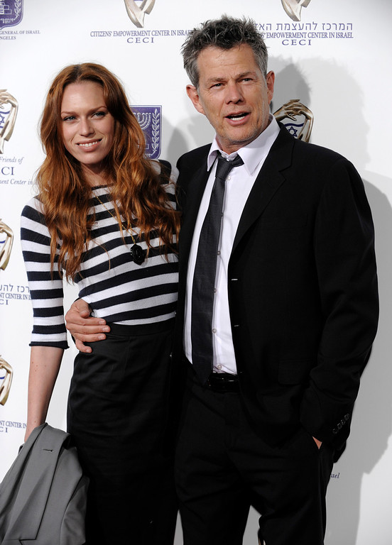 """. Music producer David Foster and his daughter Erin arrive at \""""From Vision to Reality,\"""" an event to celebrate the 60th anniversary of the state of Israel, at Paramount Studios in Los Angeles, Thursday, Sept. 18, 2008. (AP Photo/Chris Pizzello)"""