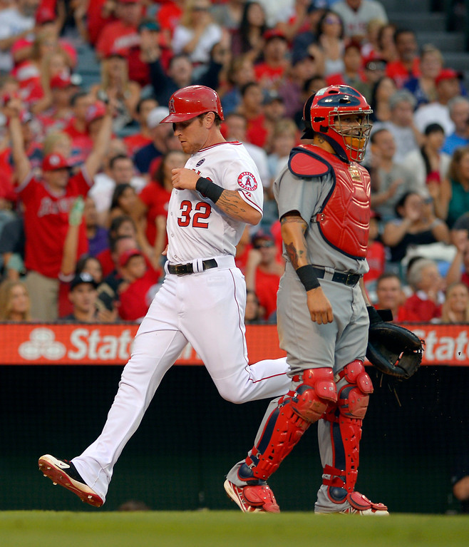 . JULY 2: Hamilton singled and scored a run as the Angels extended their winning streak to seven with a 5-1 victory at home over St. Louis. (AP Photo/Mark J. Terrill)
