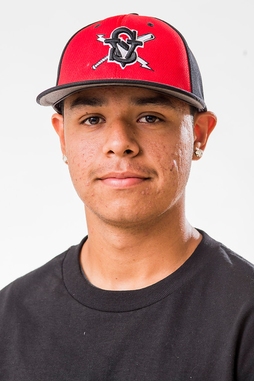 . Sierra Vista High\'s Eric Gutierrez has been selected for the SGV Tribune\'s All-area Baseball Team June 10, 2014.   (Staff photo by Leo Jarzomb/San Gabriel Valley Tribune)