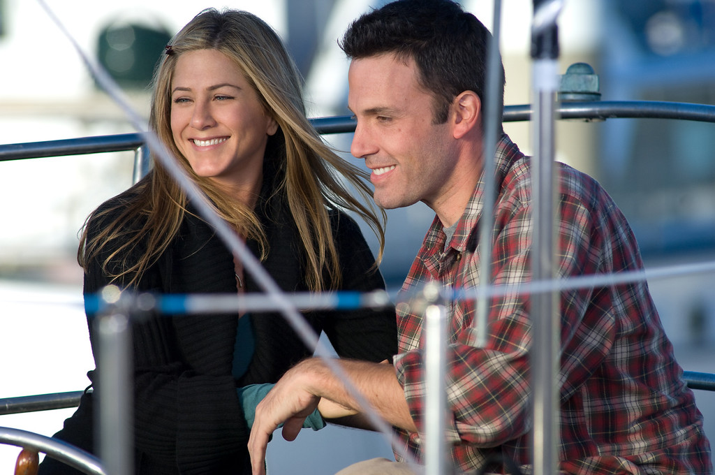 """. In this image released by Warner Bros. Pictures, Jennifer Aniston, left, and Ben Affleck are shown in a scene from the New Line Cinema film, \""""He\'s Just Not That Into You.\"""" (AP Photo/Warner Bros. Pictures, Darren Michaels)"""