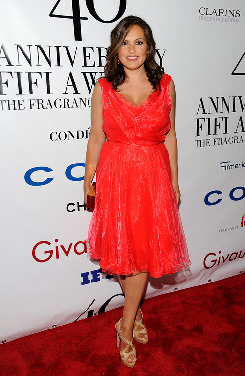 . Actress Mariska Hargitay attends the FiFi Fragrance Awards at Alice Tully Hall, Monday, May 21, 2012 in New York. (AP Photo/Evan Agostini)