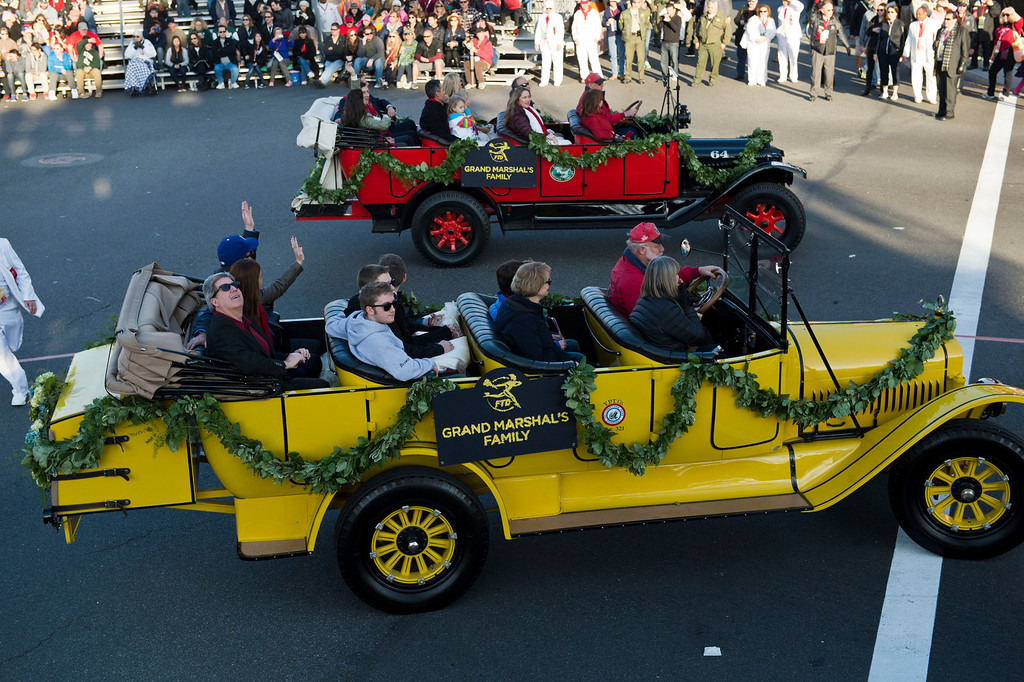 . Grand Marshal\'s family during 2014 Rose Parade in Pasadena, Calif. on January 1, 2014. (Staff photo by Leo Jarzomb/ Pasadena Star-News)