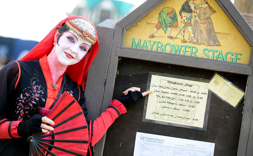 . Opening day of the Renaissance Pleasure Faire at Santa Fe Dam Recreation Area in Irwindale, Calif., on Saturday, April 5, 2014.  (Keith Birmingham Pasadena Star-News)
