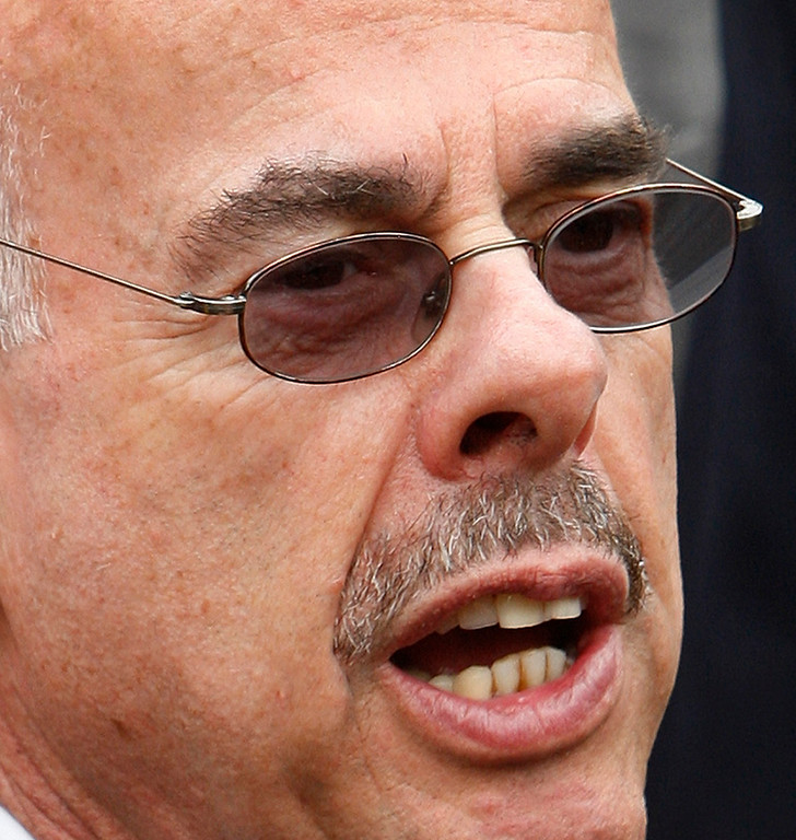 . In this May 5, 2009 file photo, Rep. Henry Waxman, D-Calif. speaks to reporters after Democrats serving on the Energy and Commerce Committees met with President Barack Obama in the State Dining Room at the White House to discuss energy independence, health care reform, and other legislative priorities in Washington.  (AP Photo/Ron Edmonds, File)