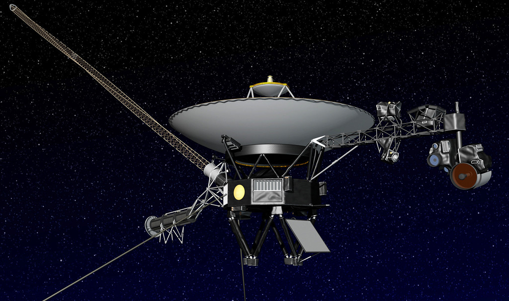 . This artist rendering released by NASA shows NASA�s Voyager 1 spacecraft in space. The space agency announced Thursday, Sept. 12, 2013 that Voyager 1 has become the first spacecraft to enter interstellar space, or the space between stars, more than three decades after launching from Earth. (AP Photo/NASA)